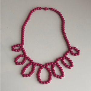 Pink circular necklace crewcuts